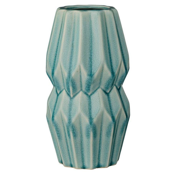 Sky Blue Ceramic Vase - The Farthing  - 1