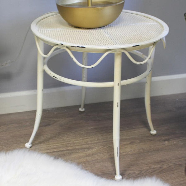 Distressed Iron Side Table | Farthing 1