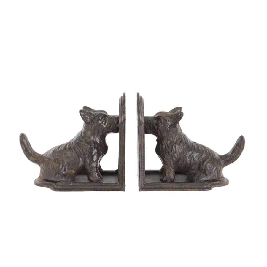 Metal Dog Bookends