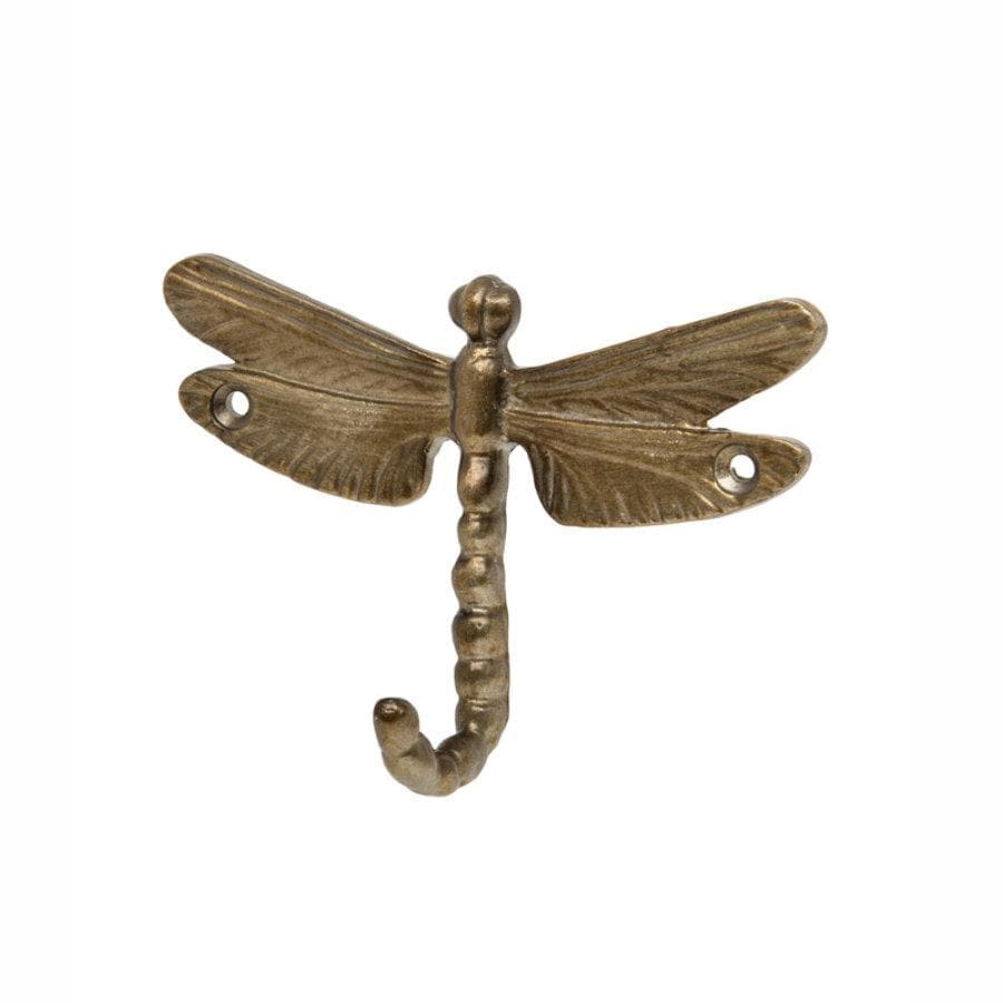 Burnished Bronze Dragonfly Door Hook at the Farthing 1