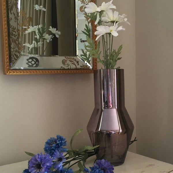 Shimmering Bronze & Pink Glass Vase - The Farthing