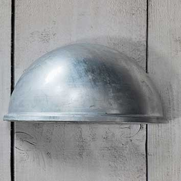 Eye Down Galvanised Light - The Farthing