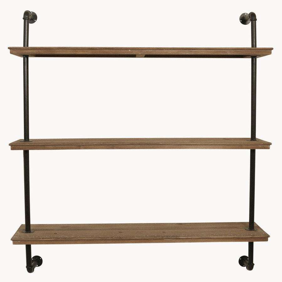Rustic Loft Pipe & Wood Shelves 1