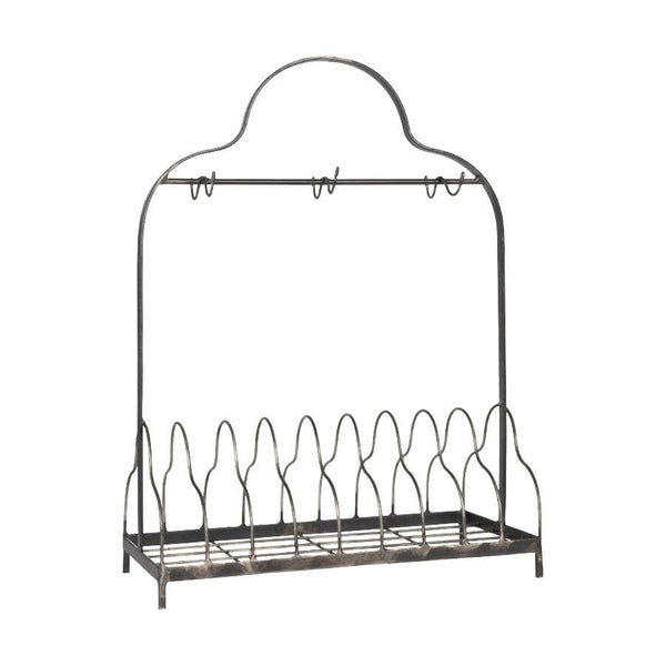 Worthing Plate Rack in Antique metal at the farthing