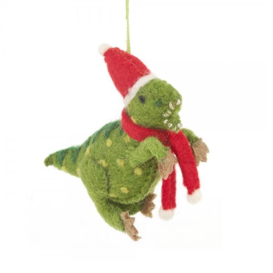 Dino Felt Christmas Dinosaur Hanging Decoration 3