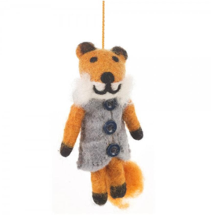 Felt Festive Fox Hanging Decoration 1