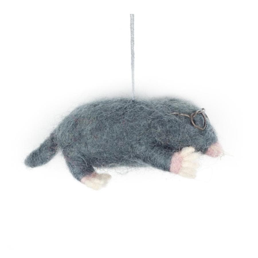 Felt Christmas Mole Hanging Decoration 1