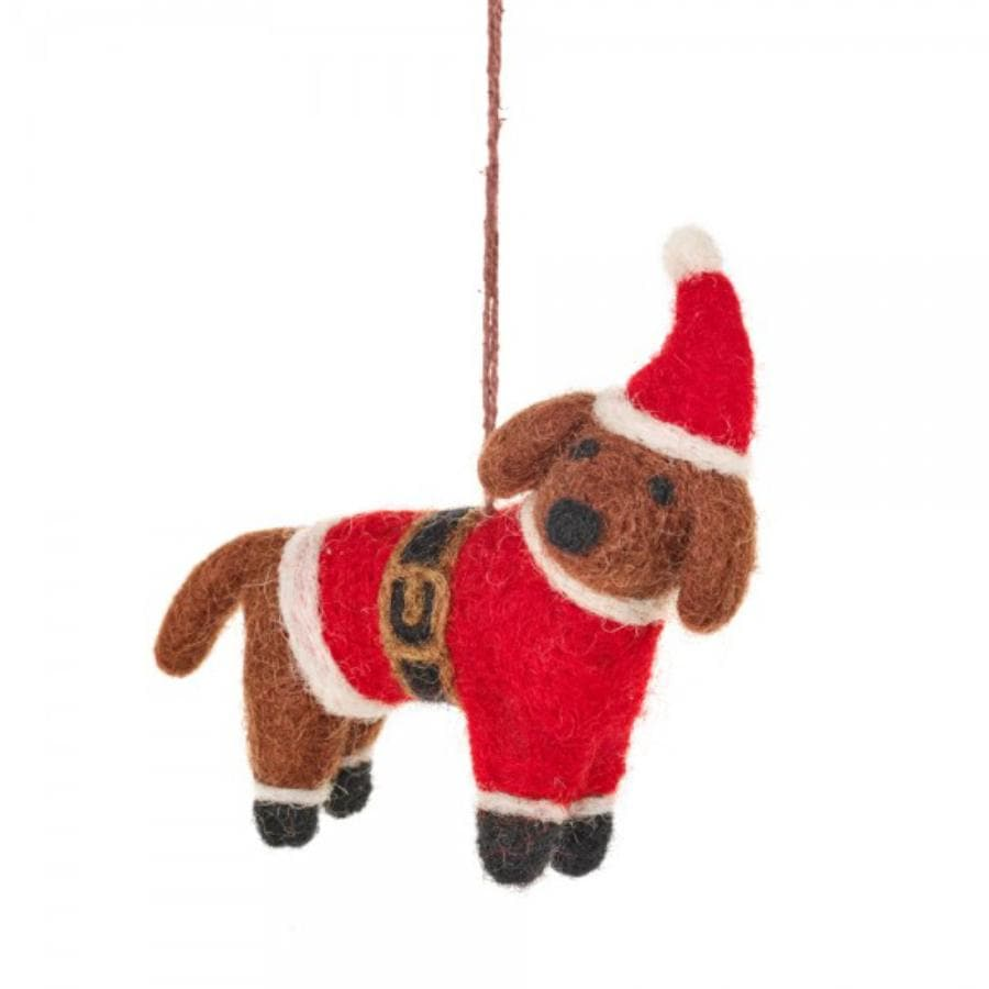 Winston Festive Hanging Dog Decoration