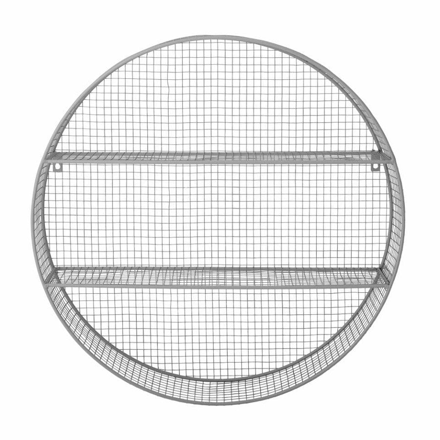 Round Wirework Wall Shelf - Pale Grey