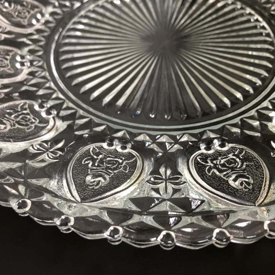 Glass Lace Display Platter at the farthing