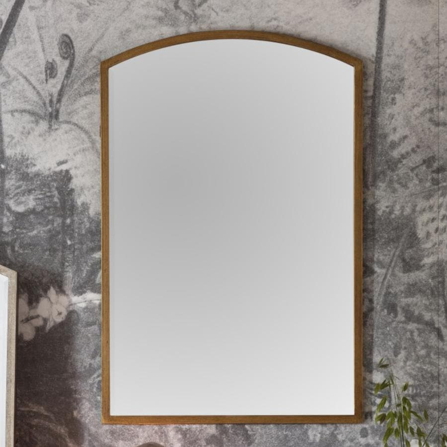 Antiqued Gold Arched Top Portrait Mirror