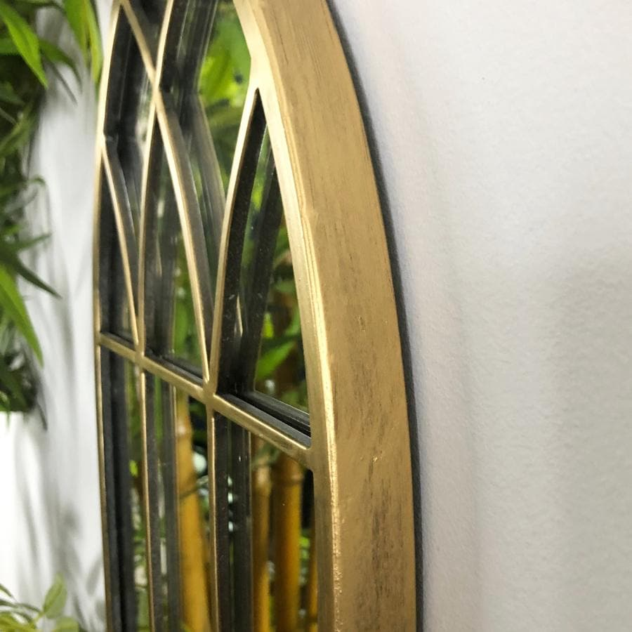 Aged Gold Arch Mirror at the Farthing