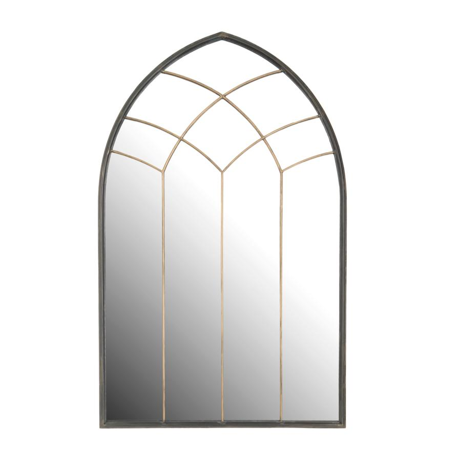 Golden Outdoor Garden Arch Mirror