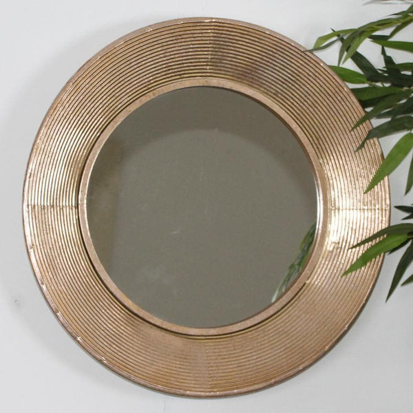 Textured Metallic Gold Mirror 11