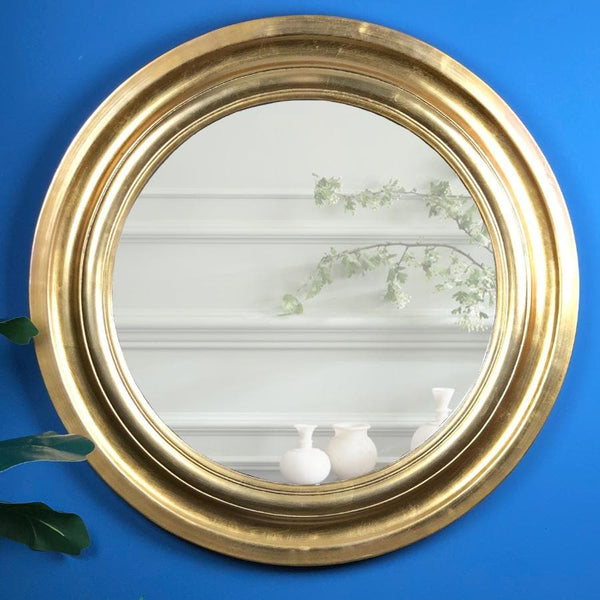 Vintage Gold Round Mirror at the Farthing