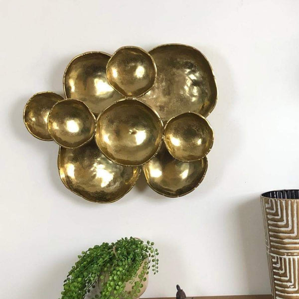 Golden Distressed Wall Ornament at the Farthing 2