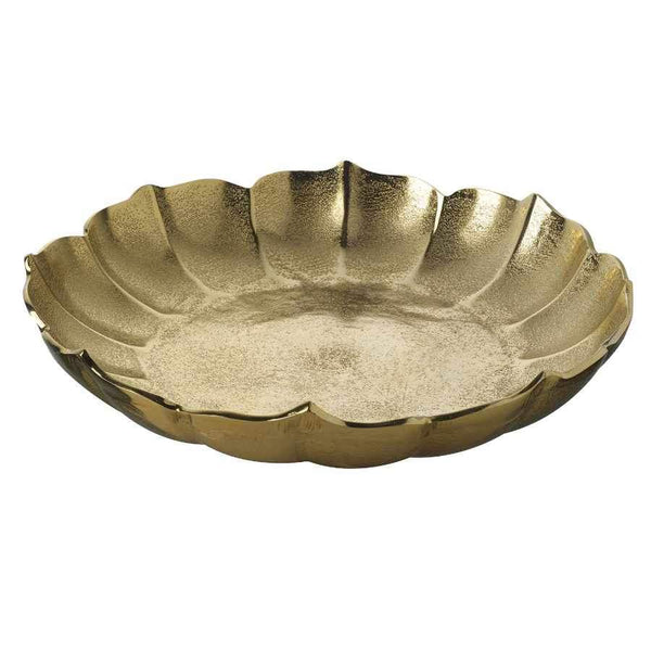 Large Petal Edge Gold Dish 1