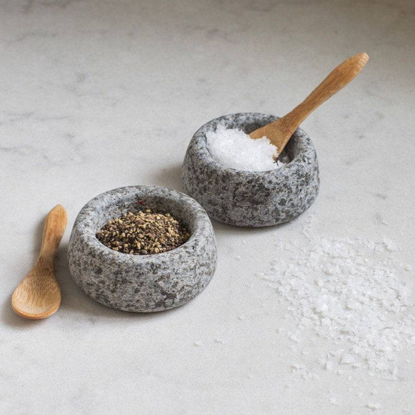 Natural Granite Table Salt and Pepper Pots - The Farthing