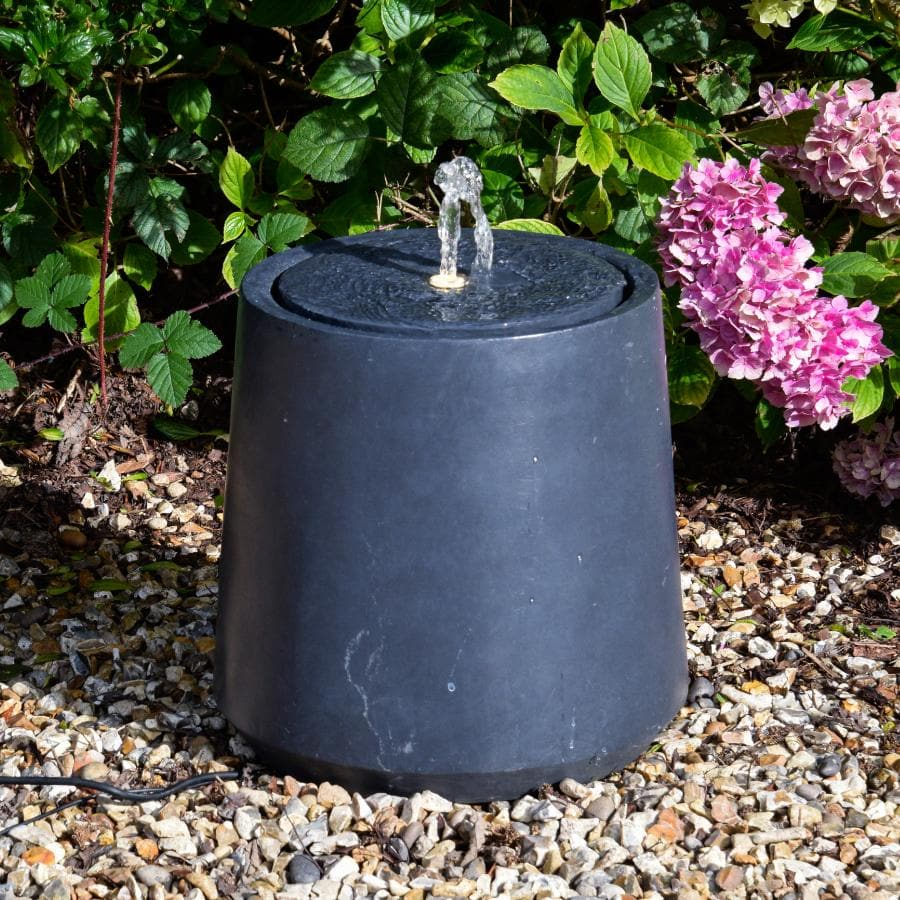 Round Granite Effect Water Feature