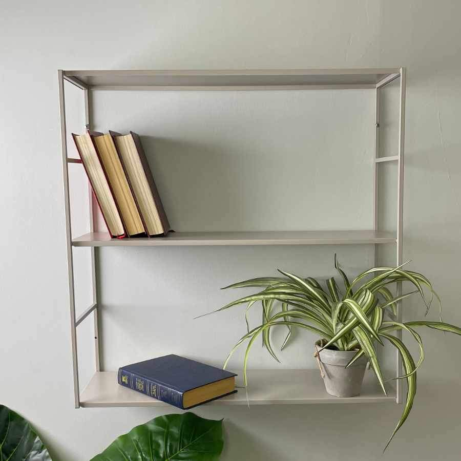 Square Grey Metal Wall Shelf 1