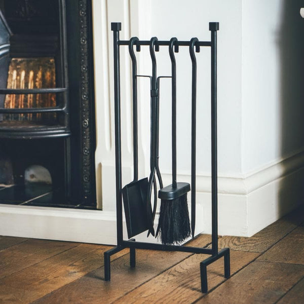 Rustic Hanging Wrought Iron Fireside Companion Set - The Farthing 4