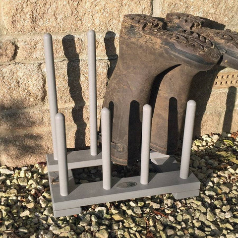 Parisian Dove Grey Wooden Wellington Boot Rack - The Farthing