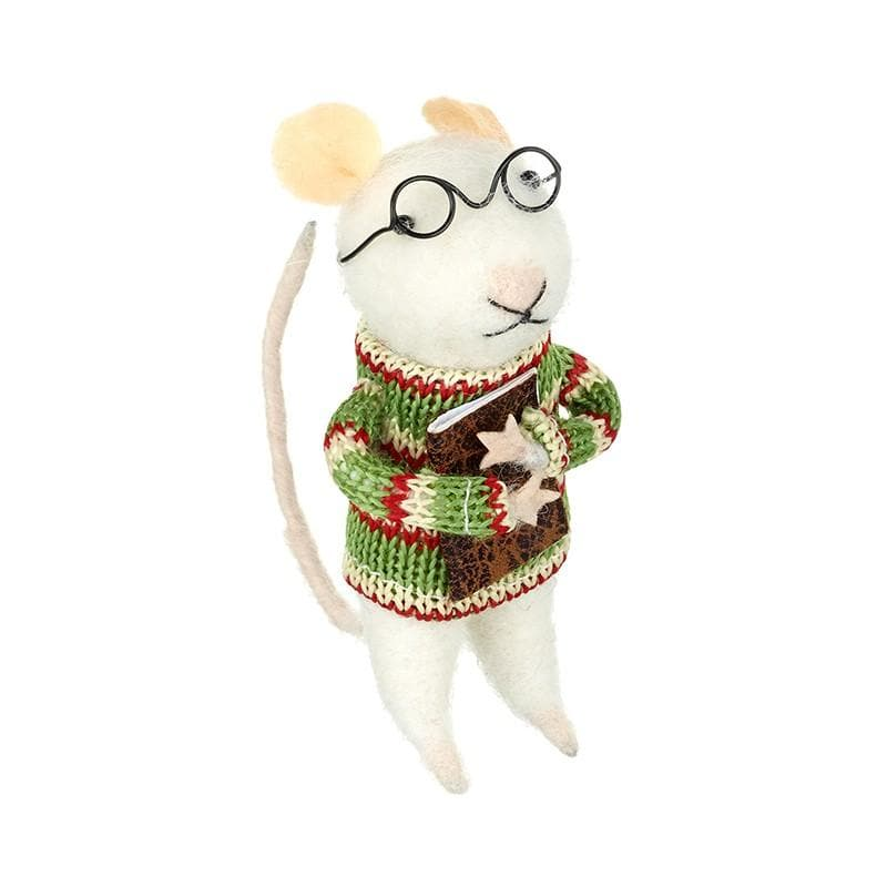 Felt Christmas Jumper Mouse Decoration 5