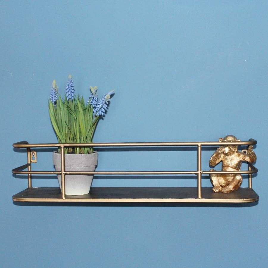 Rustic Gold Metal Shelf at the Farthing 2