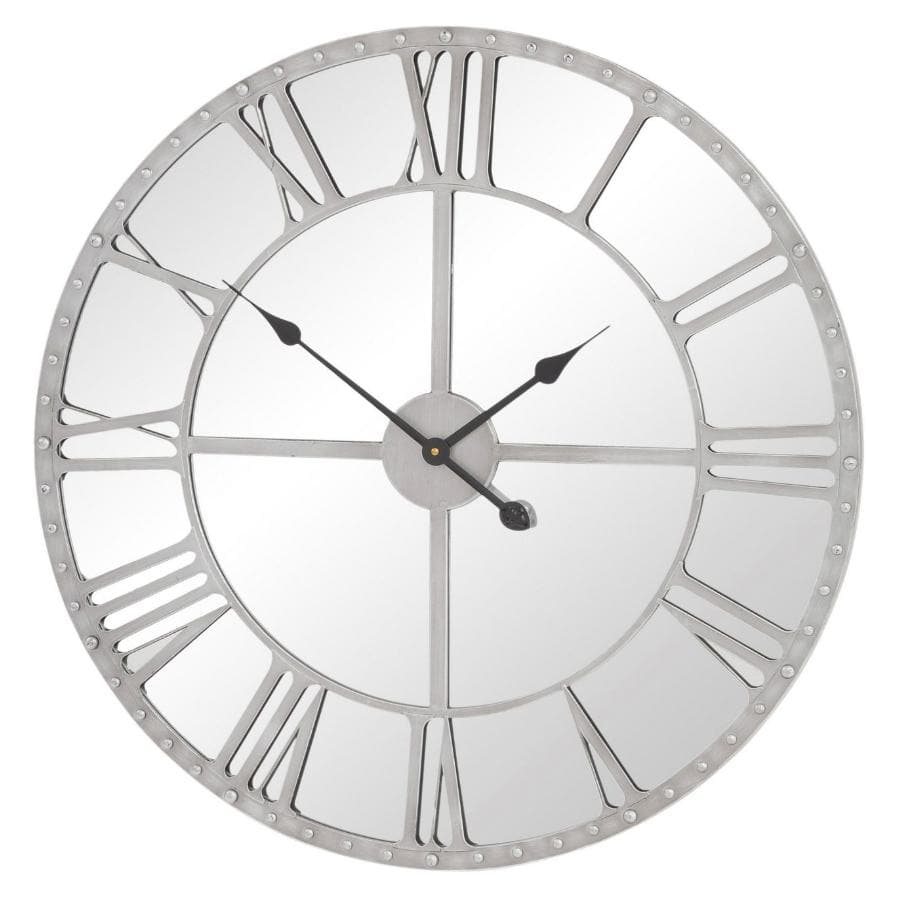 Industrial Grey Mirrored Wall Clock at the Farthing
