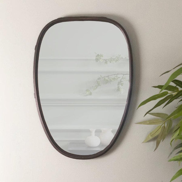 Industrial Oval Mirror at the Farthing