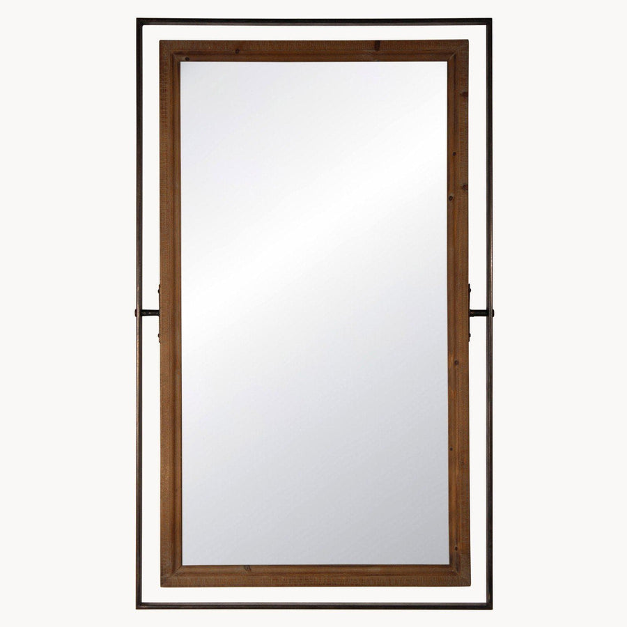 Tall Industrial Metal Frame Wall Mirror | Farthing