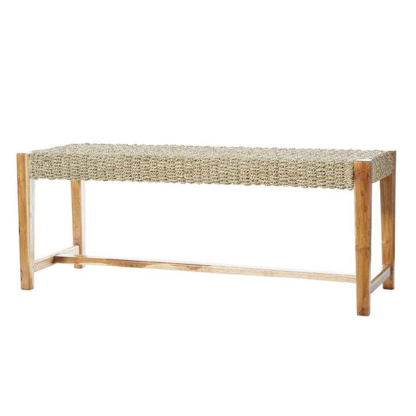 Woven Jute Bench at the Farthing