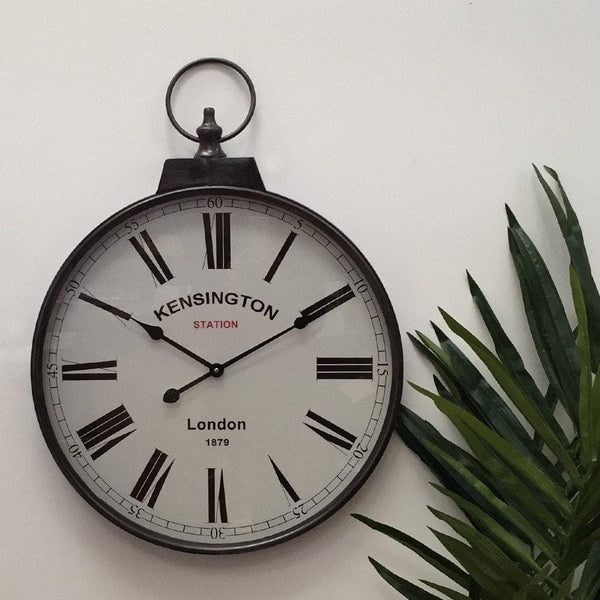 Antiqued Kensington Pocket Watch Wall Clock - The Farthing
