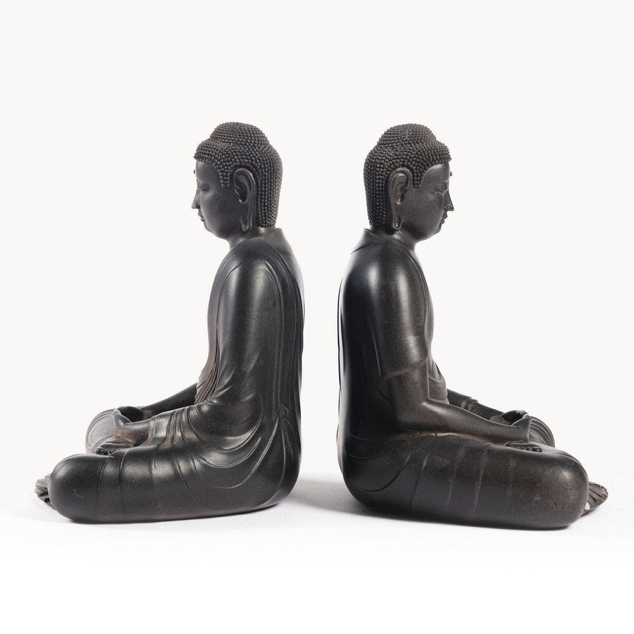 Antiqued Buddha Bookends