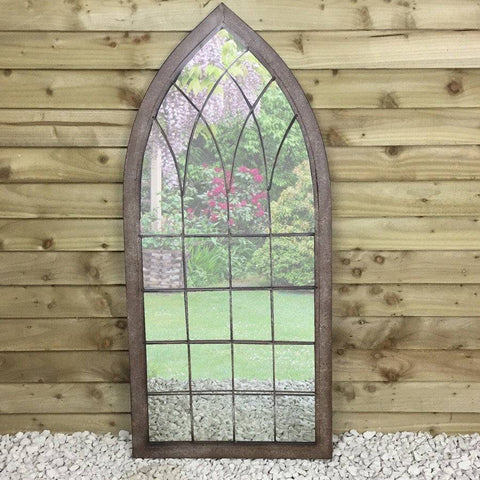 Rustic Metal Garden Arc Mirror at the Farthing