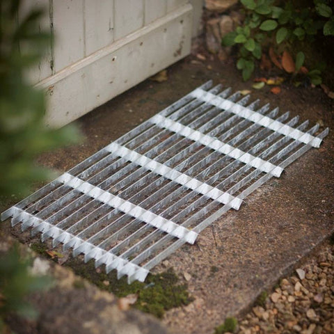 Galvanised Metal Grill Door Mat Large - The Farthing