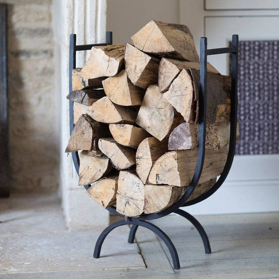 Large Attractive Wrought Iron Log Holder - The Farthing