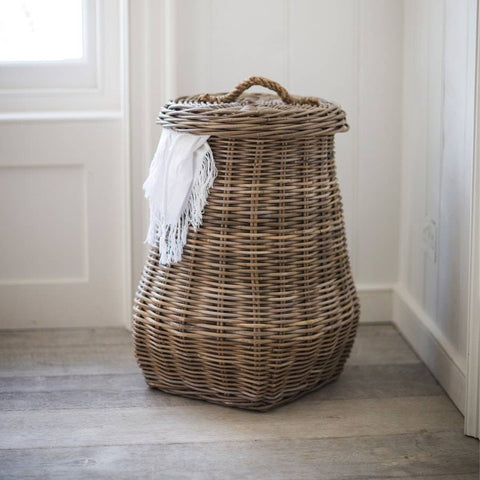 Natural Rattan Bembridge Laundry Basket with Rope Handle - The Farthing