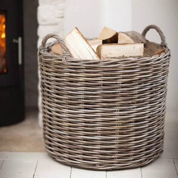 Giant Round Wicker Log Basket Free Uk Delivery The
