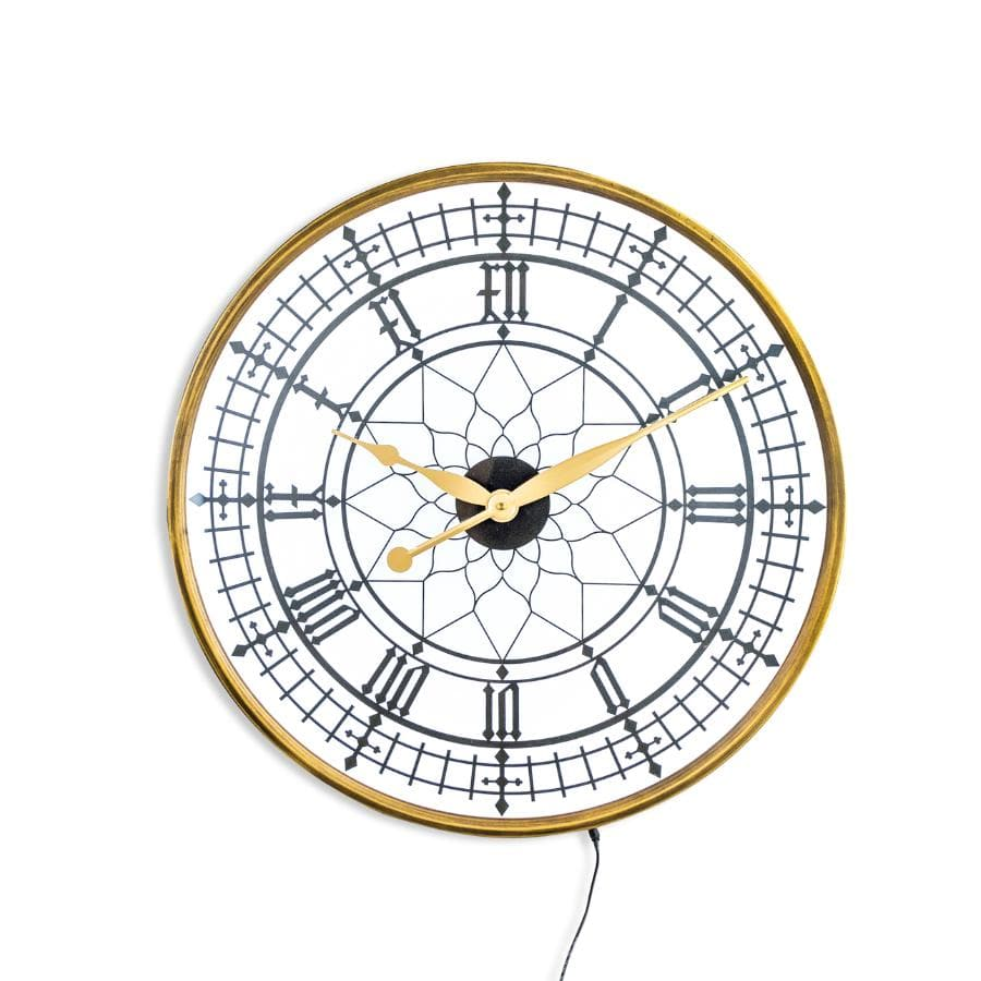 Light Up Led Gold Wall Clock at the Farthing