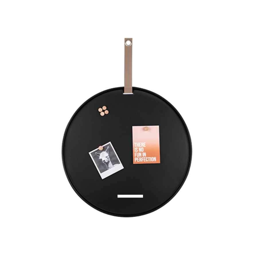 Round Black Magnetic Memo Board
