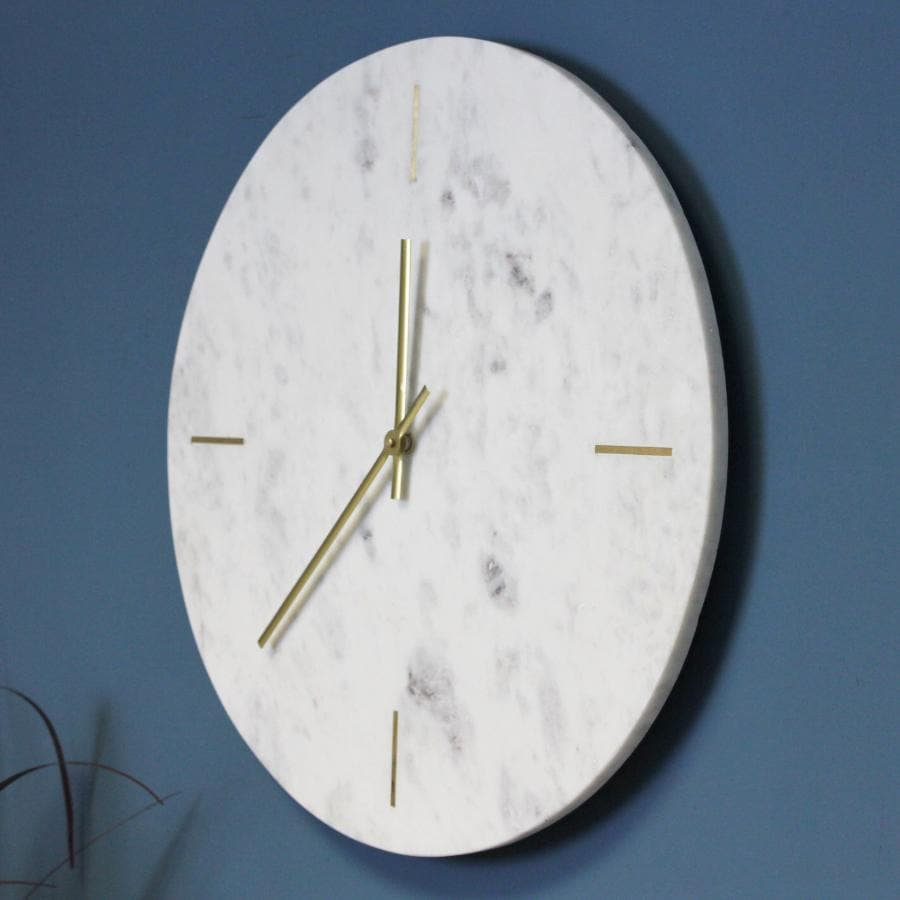 Marble & Brass Wall Clock at the Farthing
