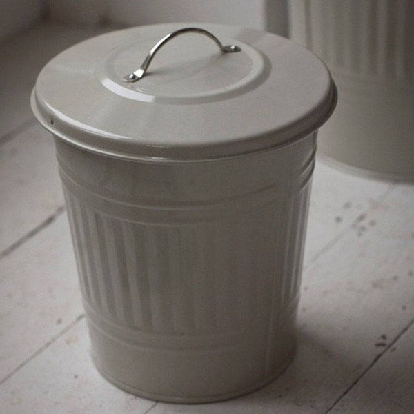 Cute Mini Metal Bin in Clay & Nickel Handle - The Farthing