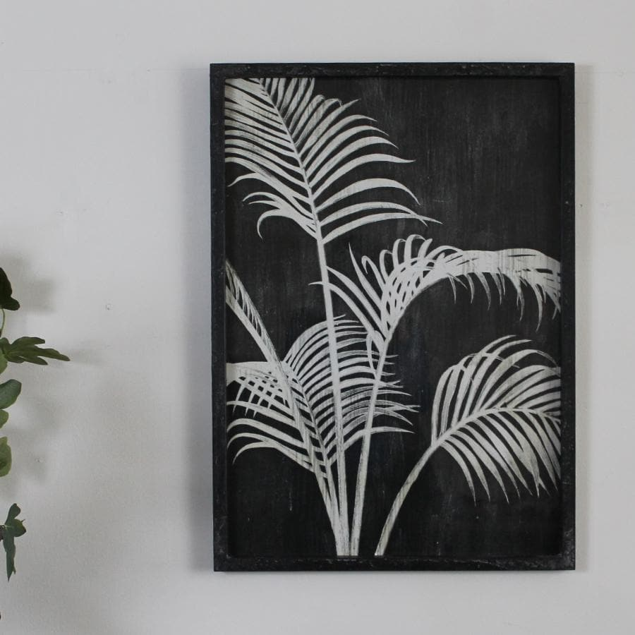 Framed Monochrome Palm Print at the Farthing 11