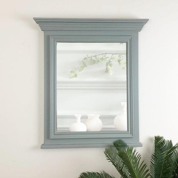 Distressed Nordic Blue Wall Mirror at the Farthing
