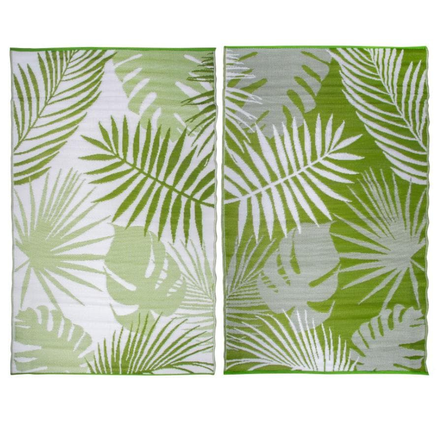 Green Palm Leaf Outdoor Rug at the Farthing