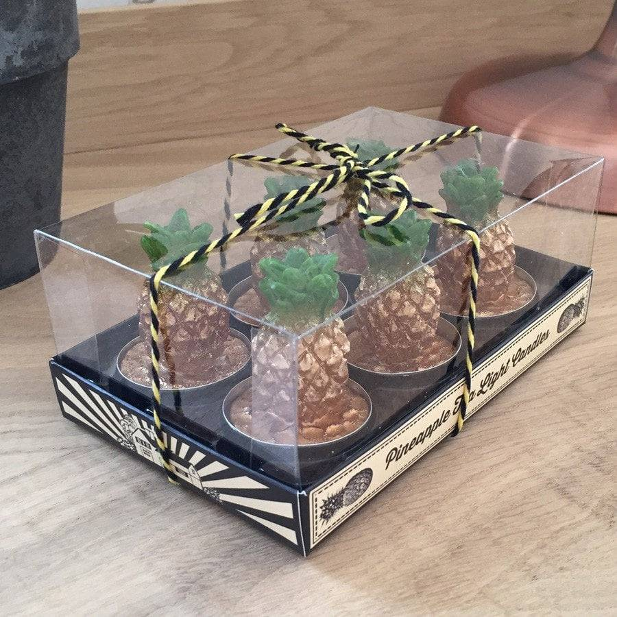 Super Chic Pineapple Tea Lights - pack of 6 - The Farthing
