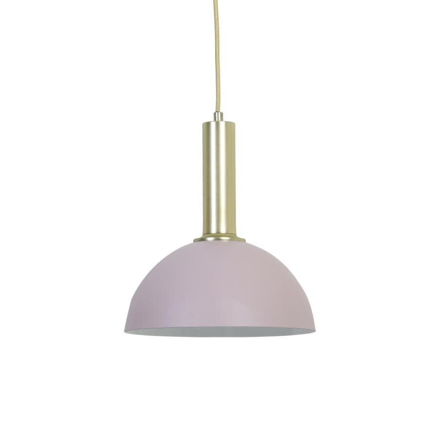 Blush Pink & Gold Dome Saucer Pendant Light - metal