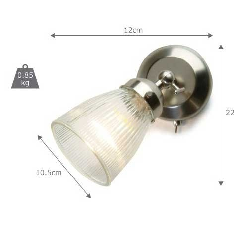 Pimlico Wall Light with Glass Shade - The Farthing