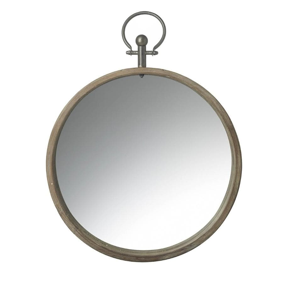 Pocket Watch Wood Wall Mirror